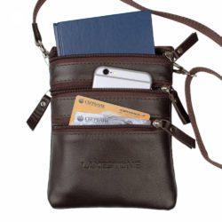 Небольшая сумка через плечо Wesley Brown Коричневый