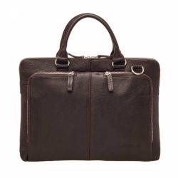 Небольшая кожаная сумка через плечо Osborne Brown Коричневый