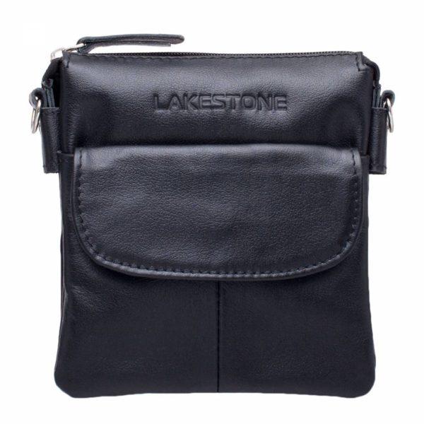 Небольшая кожаная сумка через плечо Osborne Black Черный