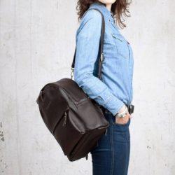 Женский рюкзак Ambra Brown Коричневый