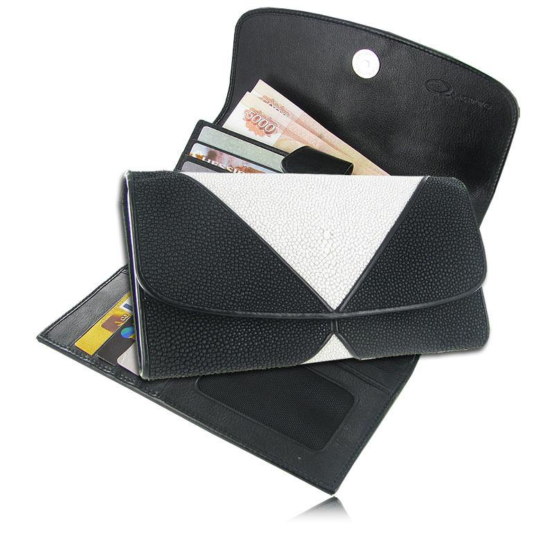 Женский кошелек из кожи ската