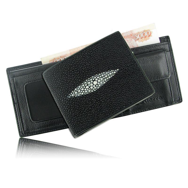Бумажник из кожи ската с глазком