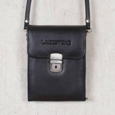 Небольшая кожаная сумка для документов Tormarton Black Черный