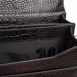 Портфель Braydon Black Caiman Черный