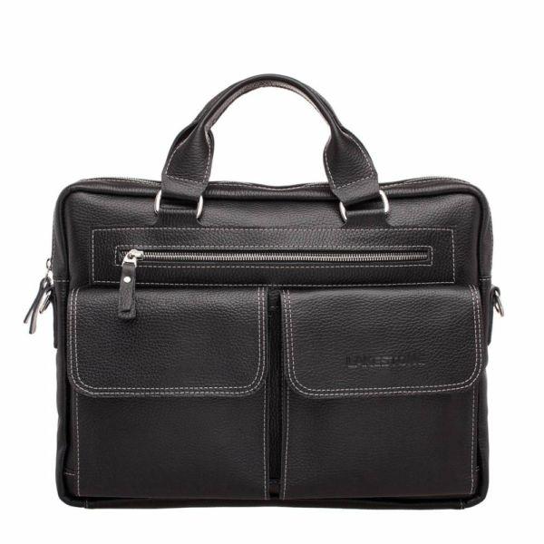 Деловая сумка Holford Black мужская кожаная черная