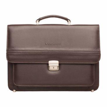 Портфель Reedley Brown мужской кожаный коричневый