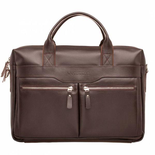 Деловая сумка Dorset Brown мужская кожаная коричневая