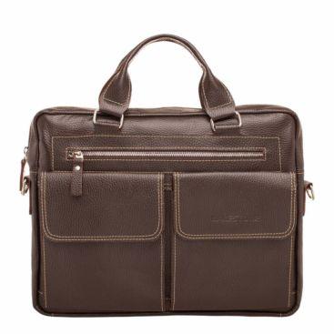 Деловая сумка Holford Brown мужская кожаная коричневая
