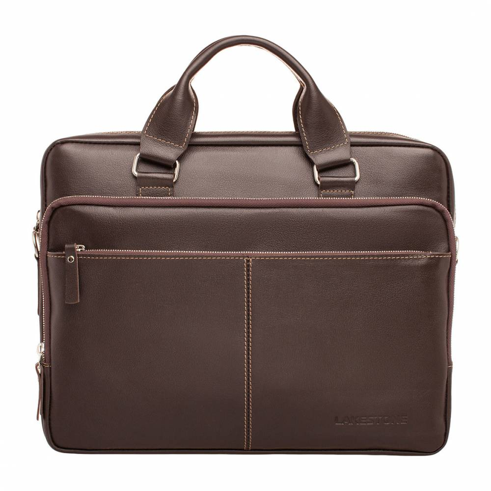 Деловая сумка Glenroy Brown мужская кожаная коричневая
