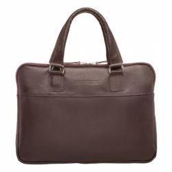 Деловая сумка Anson Brown мужская кожаная коричневая
