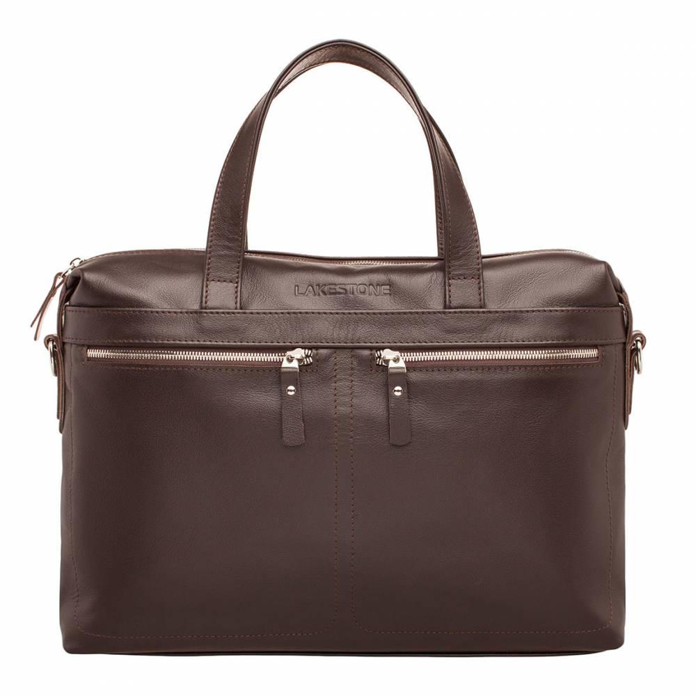 Деловая сумка Dalston Brown мужская кожаная коричневая