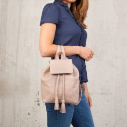 Небольшой женский рюкзак Clare Ash Rose Пудровый