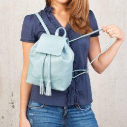 Небольшой женский рюкзак Clare Blue Pearl Голубой перламутр
