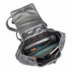 Небольшой женский рюкзак Clare Silver Grey Серебряный